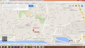 Mapa Modrý kostolík, Bezručova ulica 2, 811 09  Bratislava