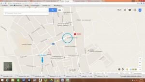 Hotel Sebastian - Dukelská 4,  900 01  Modra kostol - orientačný bod smer Bratislava