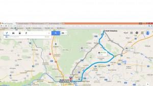 Trasa z Modry do Bratislavy